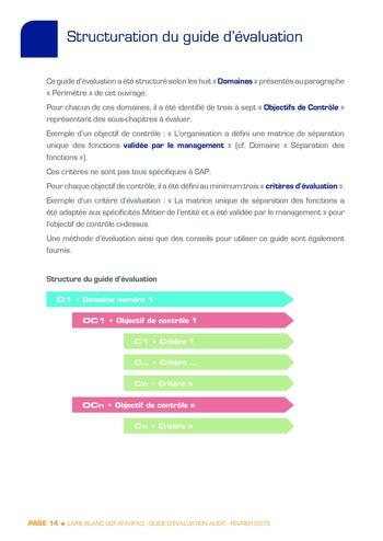Guide d'évaluation d'un système SAP pour l'audit interne / AFAI, IFACI, USF page 15