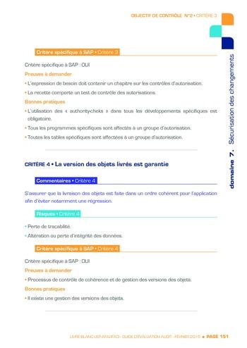 Guide d'évaluation d'un système SAP pour l'audit interne / AFAI, IFACI, USF page 152