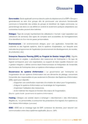 Guide d'évaluation d'un système SAP pour l'audit interne / AFAI, IFACI, USF page 158