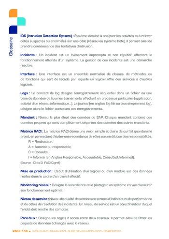 Guide d'évaluation d'un système SAP pour l'audit interne / AFAI, IFACI, USF page 159