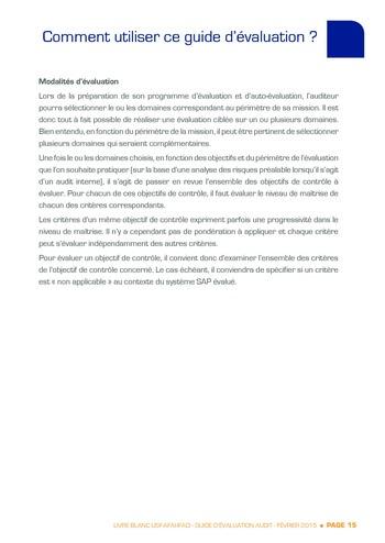 Guide d'évaluation d'un système SAP pour l'audit interne / AFAI, IFACI, USF page 16