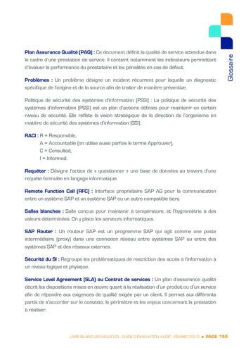 Guide d'évaluation d'un système SAP pour l'audit interne / AFAI, IFACI, USF page 160