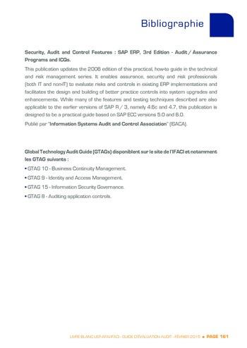Guide d'évaluation d'un système SAP pour l'audit interne / AFAI, IFACI, USF page 162