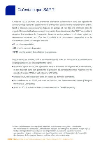 Guide d'évaluation d'un système SAP pour l'audit interne / AFAI, IFACI, USF page 163