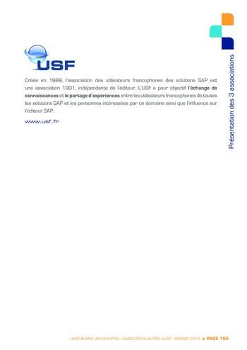 Guide d'évaluation d'un système SAP pour l'audit interne / AFAI, IFACI, USF page 166