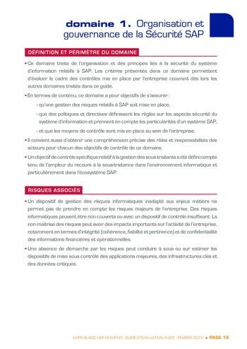 Guide d'évaluation d'un système SAP pour l'audit interne / AFAI, IFACI, USF page 20