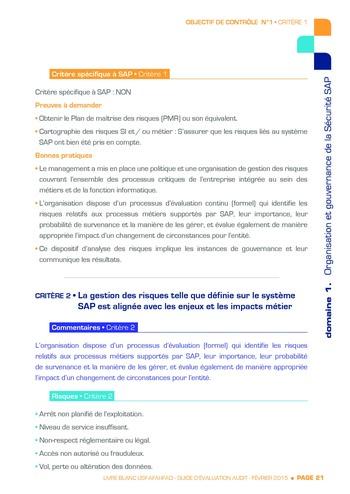 Guide d'évaluation d'un système SAP pour l'audit interne / AFAI, IFACI, USF page 22