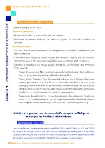 Guide d'évaluation d'un système SAP pour l'audit interne / AFAI, IFACI, USF page 23