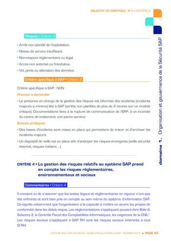 Guide d'évaluation d'un système SAP pour l'audit interne / AFAI, IFACI, USF page 24