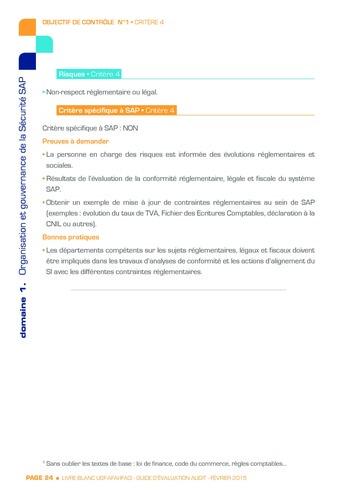 Guide d'évaluation d'un système SAP pour l'audit interne / AFAI, IFACI, USF page 25