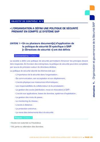 Guide d'évaluation d'un système SAP pour l'audit interne / AFAI, IFACI, USF page 26