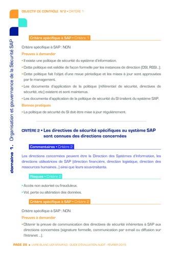 Guide d'évaluation d'un système SAP pour l'audit interne / AFAI, IFACI, USF page 27