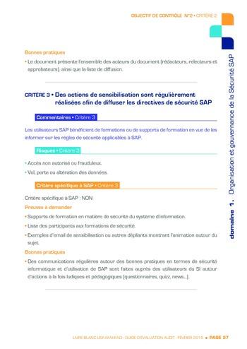 Guide d'évaluation d'un système SAP pour l'audit interne / AFAI, IFACI, USF page 28