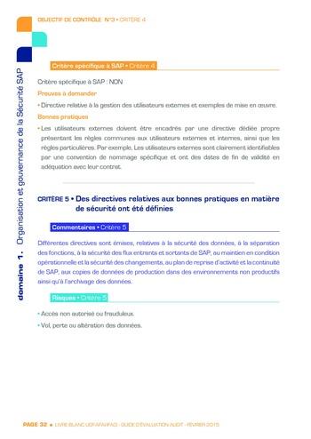 Guide d'évaluation d'un système SAP pour l'audit interne / AFAI, IFACI, USF page 33