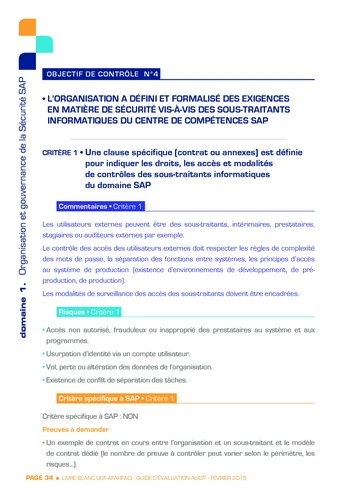 Guide d'évaluation d'un système SAP pour l'audit interne / AFAI, IFACI, USF page 35