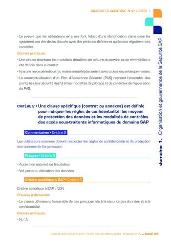 Guide d'évaluation d'un système SAP pour l'audit interne / AFAI, IFACI, USF page 36