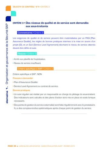 Guide d'évaluation d'un système SAP pour l'audit interne / AFAI, IFACI, USF page 37