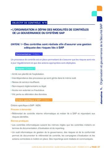 Guide d'évaluation d'un système SAP pour l'audit interne / AFAI, IFACI, USF page 38