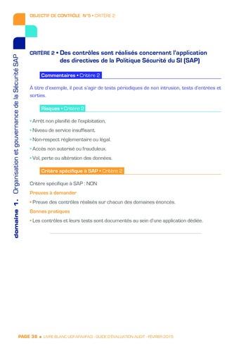 Guide d'évaluation d'un système SAP pour l'audit interne / AFAI, IFACI, USF page 39