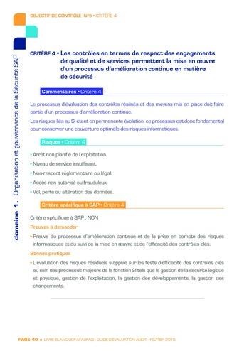 Guide d'évaluation d'un système SAP pour l'audit interne / AFAI, IFACI, USF page 41