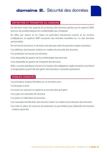 Guide d'évaluation d'un système SAP pour l'audit interne / AFAI, IFACI, USF page 42