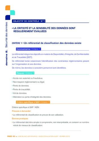Guide d'évaluation d'un système SAP pour l'audit interne / AFAI, IFACI, USF page 43