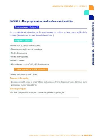 Guide d'évaluation d'un système SAP pour l'audit interne / AFAI, IFACI, USF page 44