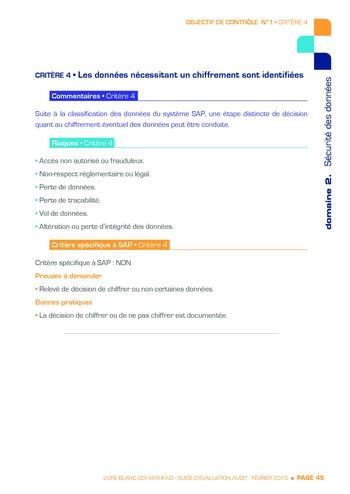 Guide d'évaluation d'un système SAP pour l'audit interne / AFAI, IFACI, USF page 46