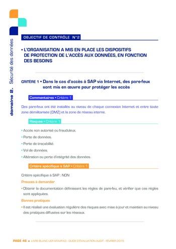 Guide d'évaluation d'un système SAP pour l'audit interne / AFAI, IFACI, USF page 47