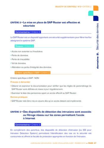 Guide d'évaluation d'un système SAP pour l'audit interne / AFAI, IFACI, USF page 48