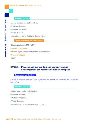 Guide d'évaluation d'un système SAP pour l'audit interne / AFAI, IFACI, USF page 49