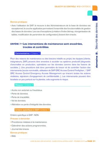Guide d'évaluation d'un système SAP pour l'audit interne / AFAI, IFACI, USF page 52
