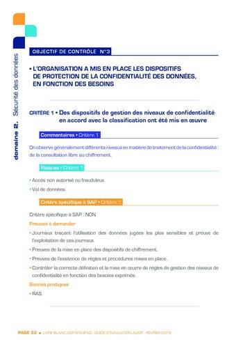 Guide d'évaluation d'un système SAP pour l'audit interne / AFAI, IFACI, USF page 53