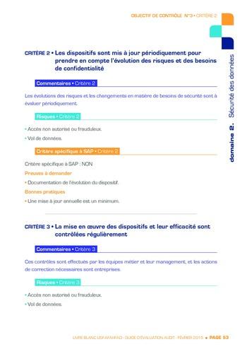Guide d'évaluation d'un système SAP pour l'audit interne / AFAI, IFACI, USF page 54