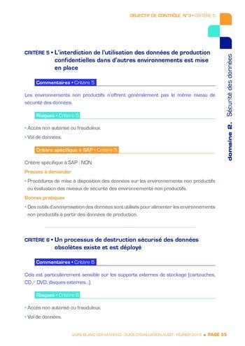 Guide d'évaluation d'un système SAP pour l'audit interne / AFAI, IFACI, USF page 56