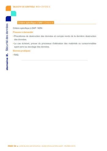 Guide d'évaluation d'un système SAP pour l'audit interne / AFAI, IFACI, USF page 57