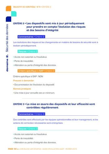 Guide d'évaluation d'un système SAP pour l'audit interne / AFAI, IFACI, USF page 59