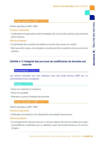 Guide d'évaluation d'un système SAP pour l'audit interne / AFAI, IFACI, USF page 60