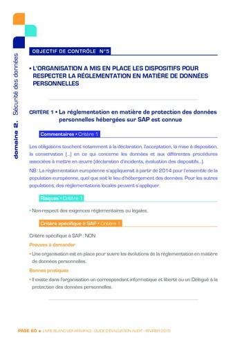 Guide d'évaluation d'un système SAP pour l'audit interne / AFAI, IFACI, USF page 61