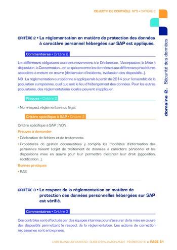 Guide d'évaluation d'un système SAP pour l'audit interne / AFAI, IFACI, USF page 62