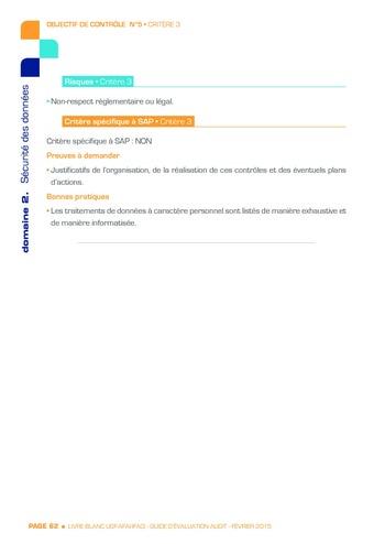 Guide d'évaluation d'un système SAP pour l'audit interne / AFAI, IFACI, USF page 63