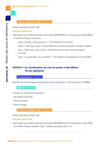 Guide d'évaluation d'un système SAP pour l'audit interne / AFAI, IFACI, USF page 67