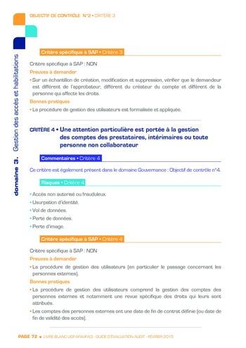 Guide d'évaluation d'un système SAP pour l'audit interne / AFAI, IFACI, USF page 73