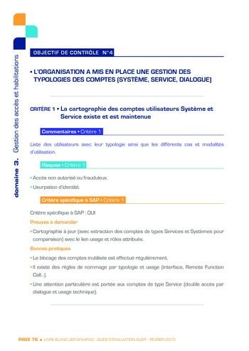 Guide d'évaluation d'un système SAP pour l'audit interne / AFAI, IFACI, USF page 77