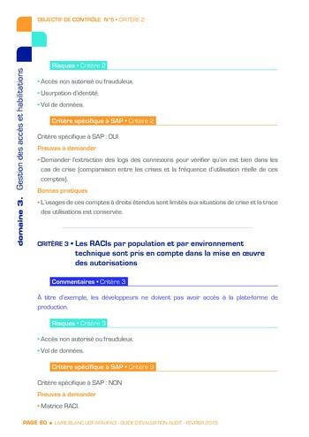 Guide d'évaluation d'un système SAP pour l'audit interne / AFAI, IFACI, USF page 81