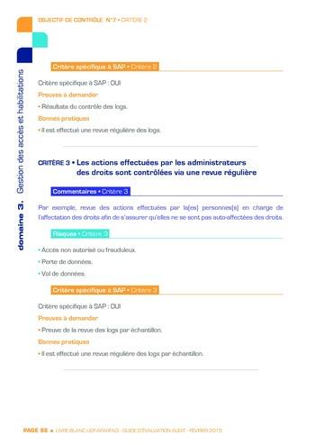 Guide d'évaluation d'un système SAP pour l'audit interne / AFAI, IFACI, USF page 87