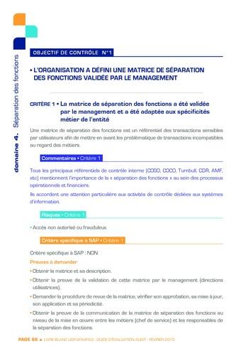 Guide d'évaluation d'un système SAP pour l'audit interne / AFAI, IFACI, USF page 89