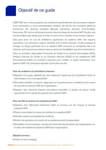Guide d'évaluation d'un système SAP pour l'audit interne / AFAI, IFACI, USF page 9