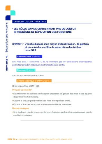 Guide d'évaluation d'un système SAP pour l'audit interne / AFAI, IFACI, USF page 93