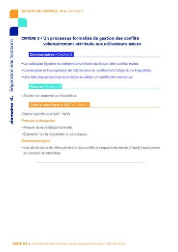 Guide d'évaluation d'un système SAP pour l'audit interne / AFAI, IFACI, USF page 95